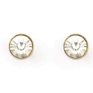 Picture of Victoria Stud Antique Brass Earrings