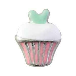 Picture of Pink & Green Cupcake Charm