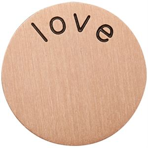 Picture of 'Love' Large Rose Gold Coin