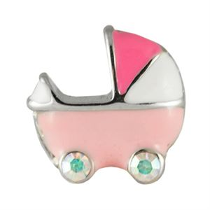 Picture of Pink Baby Carriage Charm