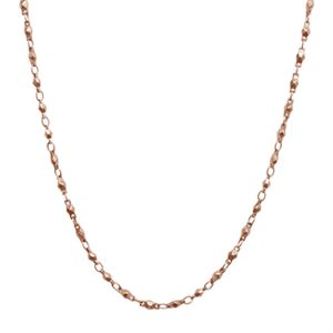 """Picture of Rose Gold Multifaceted Link Chain - 28"""""""