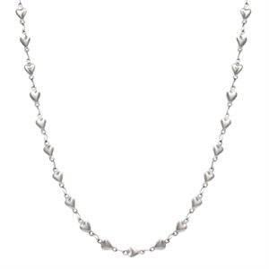 """Picture of Silver Heart Chain - 32"""""""