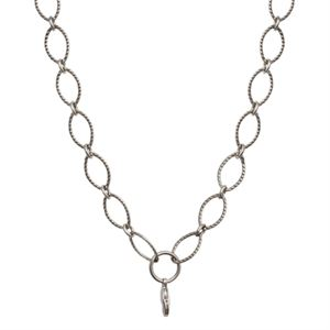 Picture of Nickel-Free Silver Textured Oval Link Chain - 32""