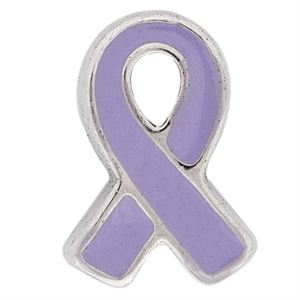 Picture of Purple Ribbon Pancreatic Cancer Charm