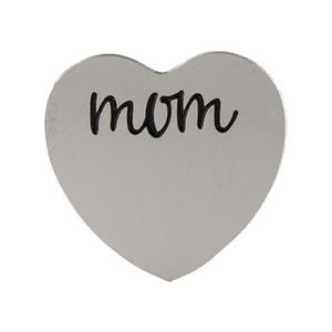 Picture of 'Mom' Medium Silver Heart Coin