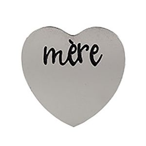 Picture of 'Mère' Medium Silver Heart Coin