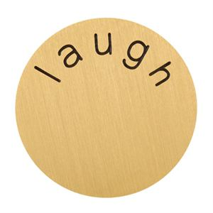 Picture of 'Laugh' Large Gold Coin