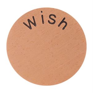 Picture of 'Wish' Large Rose Gold Coin