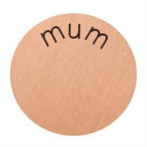 Picture of 'Mum' Large Rose Gold Coin