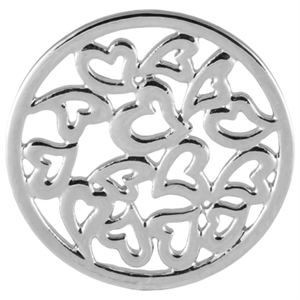 Picture of Large Silver Multi-Heart Screen
