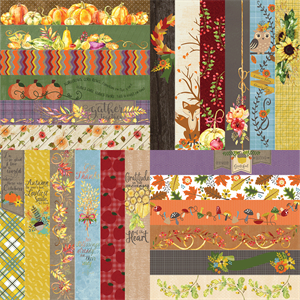 "Picture of All About Fall by Lauren Hinds 2"" Border Strips: All About Fall - Set 12"
