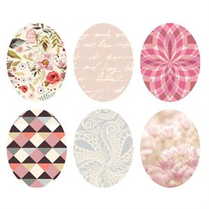 Picture of Pastel Print Oval Locket Backdrops