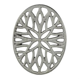 Picture of Silver Vintage Mosaic Oval Screen