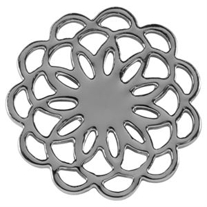 Picture of Medium Silver Flower Screen