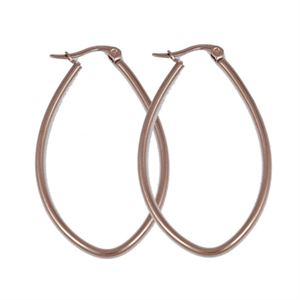 Picture of Rose Gold Oval Hoop Earrings