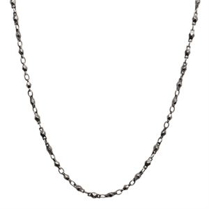 """Picture of Nickel-Safe Graphite Multifaceted Link Chain - 28"""""""