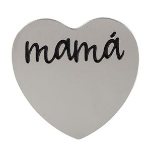 Picture of 'Mamá' Medium Silver Heart Coin