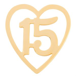 Picture of Gold Quinceñera Heart Screen