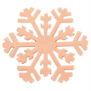 Picture of Large Rose Gold Snowflake Screen